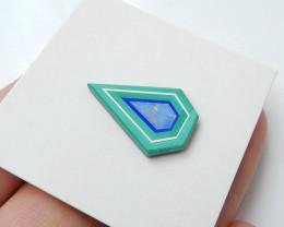 Latest Malachite, Lapis Lazuli and Opal Intarsia Cabochon bead(H2883)