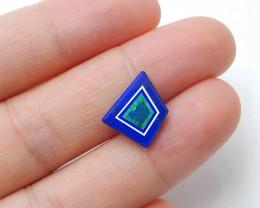 New Malachite, Lapis Lazuli and Opal Intarsia Cabochon for desingerH2896
