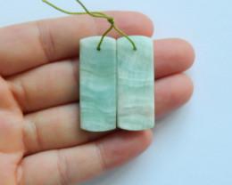 41.9cts Heminorphite earrings ,gemstone earrings ,healing stone (A839)