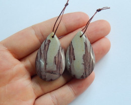 64cts Chohua jasper earrings ,gemstone earrings ,healing stone (A845)