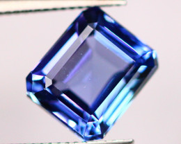IGI Certified 2.46Ct Violet Blue Tanzanite Emerald Cut Lot LZB403