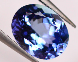 IGI Certified 2.57Ct Violet Blue Tanzanite Oval Cut Lot LZB402