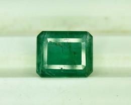 2.40 ^ Carats Emerald Cut Natural Zambian Emerald Gemstone
