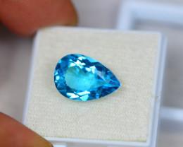7.83ct Swiss Blue Topaz Pear Cut Lot V3000
