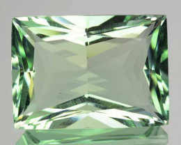 8.58 Cts Natural Prasiolite / Mint Green Amethyst Princess Cut Brazil