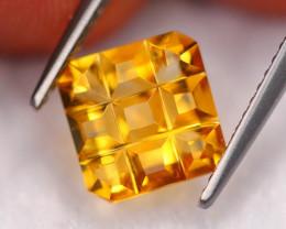 2.39Ct Natural Golden Yellow Zircon Design Cut  A0888