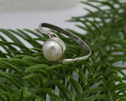 RING 925 STERLING SILVER  CULTURE PEARL NATURAL GEMSTONE JE1316