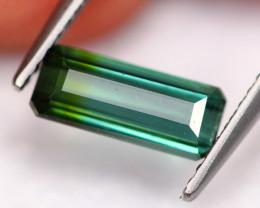 1.27Ct Natural Bi-Color Greenish Blue Tourmaline ~ B0923