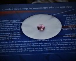 1.62 Carat Beautiful Peachy Pink Oval Cut Nigerian Tourmaline JC