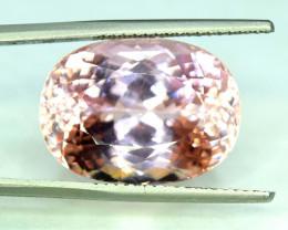 NR Auction - 30.70 Carats Natural Peach Pink Kunzite Gemstone
