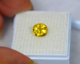1.93Ct Yellow Sapphire Oval Cut Lot A443