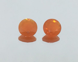 1.40 Carat Fire Opal Pair Untreated Electric Color !