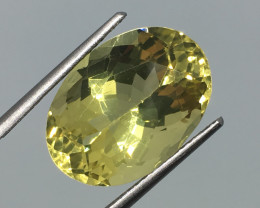 10.94 Carat VS Lemon Quartz Brilliant Color and Sparkle!
