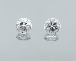 2.88 Carat VVS Zircon Diamond White Pair Precision Cut Wow Factor !