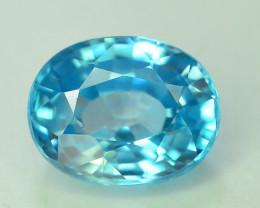 AAA Brilliance 3.40 ct Blue Zircon Cambodia