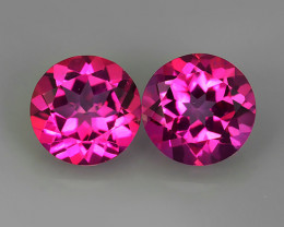 3.25 CTS WONDERFUL COLOR 7.20 MM ROUND PINK TOPAZ 2 PCS