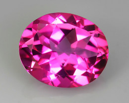 5.80 CTS SUPERIOR! TOP OVAL CUT HOT PINK-TOPAZ GENUINE NR!!