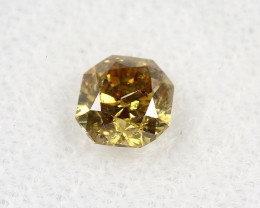 Natural Fancy Deep brownish Yellow Diamond GIA certified