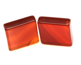 13.89cts Carnelian Matching Square discs
