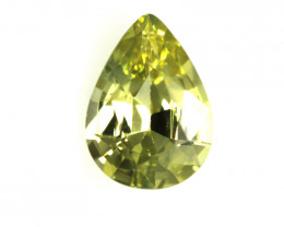 0.59cts Natural Australian Yellow Sapphire Pear Shape