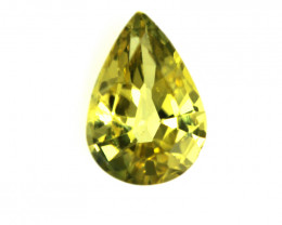 0.50cts Natural Australian Yellow Sapphire Pear Shape