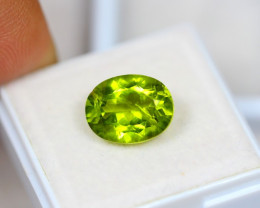 4.92ct Green Peridot Oval Cut Lot GW2942