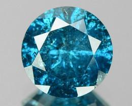 0.84 CTS SPARKLING RARE FANCY VIVID BLUE COLOR NATURAL LOOSE DIAMOND