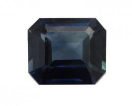 0.91cts Natural Australian Blue Sapphire Emerald Cut