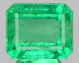 NATURAL VIVID GREEN EMERALD 0.54 Cts OCTAGON COLOMBIA