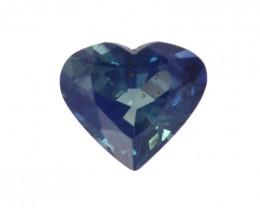 0.85cts Natural Australian Blue Sapphire Heart Cut