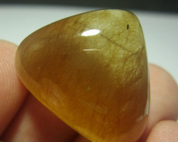 Golden Rutiles Quartz Cab For A Pendant, Quartz  From Zagi Mountain Peshawa