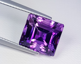 "8.41ct ""AAA Grade Gem"" Fantastic Square Cut Natural Amethyst"