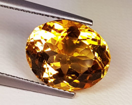 """6.78 cts """"Collective Gem"""" Beautiful Oval Cut Natural Citrine"""