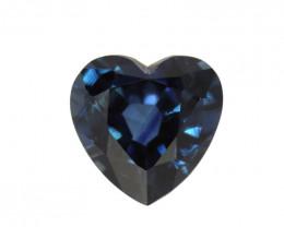 0.88cts Natural Australian Blue Sapphire Heart Cut
