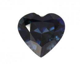 1.00cts Natural Australian Blue Sapphire Heart Cut