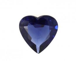 0.63cts Natural Australian Blue Sapphire Heart Cut