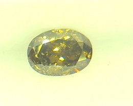 0.36ct  Fancy Dark Brown Green Diamond , 100% Natural Untreated