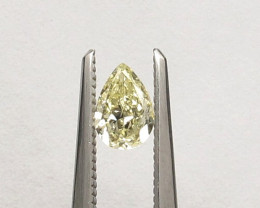 Natural Fancy Yellow Diamond pear HRD certified
