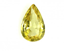 0.60cts Natural Australian Yellow Sapphire Pear Cut