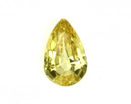 0.22cts Natural Australian Yellow Sapphire Pear Cut