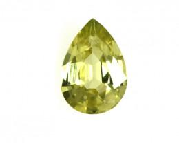 0.39cts Natural Australian Yellow Sapphire Pear Cut