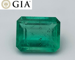 4.24 cts GIA Certified Colombian Emerald - Glowing Color - F1 (Rare)