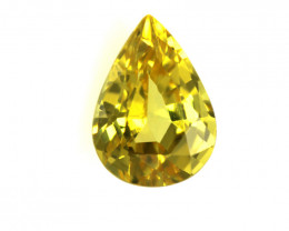 0.69cts Natural Australian Yellow Sapphire Pear Cut