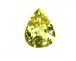 0.55cts Natural Australian Yellow Sapphire Pear Cut