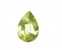 0.30cts Natural Australian Yellow Sapphire Pear Cut