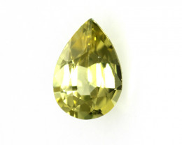 0.61cts Natural Australian Yellow Sapphire Pear Cut