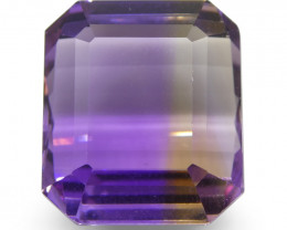 29.67 ct Emerald Cut Ametrine-$1 No Reserve Auction