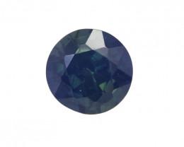 0.56cts Natural Australian Blue Sapphire Round Cut
