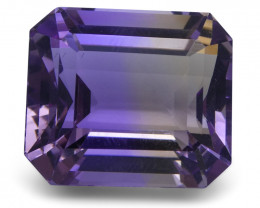24.3 ct Emerald Cut Ametrine