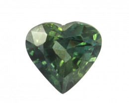 0.92cts Natural Australian Blueish/Green Sapphire Heart Cut